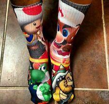 Custom Super Mario Bros Dri Fit socks gamma laney oreo I III IV V