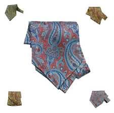 Foulard uomo seta stampata fantasia paisley cashmere ascot silk cashe col italy