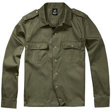 Brandit U.S. Camisa Patrulla Ejército Caza Combate Táctico Hombre Uniforme Oliva
