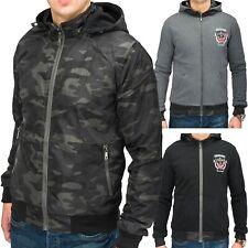 Men's Reversible Jacket CROSS Zip Hoodie Bomberjacke Camouflage Style Windbreake