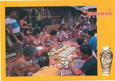 Post card of Borneo - Iban Miring Ceremony Sarawak new