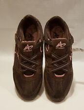 Women's Brown Athletech or Black Slip-On Walking Sneaker Shoes: 5.5--6