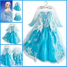 Birthday Party Dress Frozen Costume Elsa Dress Anna Up Gown Queen Princess