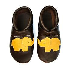 pantau.eu Leder Hausschuhe Lauflernschuhe Krabbelschuhe Babyschuhe mit Elefant