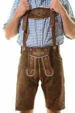 Bavarian Oktoberfest Lederhosen Shorts German Tracht Outfit dark brown #KURT