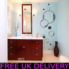 Large Grand bulles salle de bain Autocollant Mural Vinyle Transferts Motifs