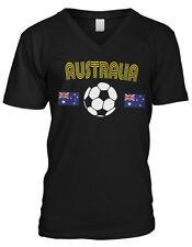 Australia Siccer Ball Flag - Australian Aussie Pride Mens V-neck T-shirt
