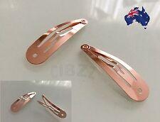 Hair Pin Vintage Snap Bobby Pin Style Tool Clip Metallic Retro ROSE GOLD,BRONZE
