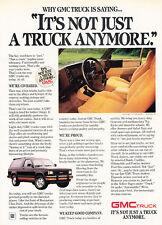 1986 GMC Trucks - Saying - Classic Vintage Advertisement Ad D89