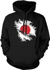 Japan Shred Flag Japanese Pride Nippon Nihon Rising Sun Hoodie Pullover