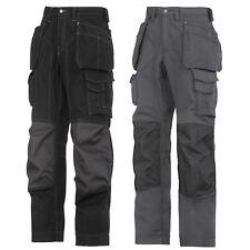 Snickers Workwear floorlayer, Rip Stop Funda Bolsillo Pantalones Negro y Gris 3223