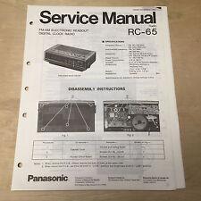 Original Panasonic Service Manual for RC Model Clock Radios ~ Choose One