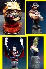 Bowen Designs Marvel Comics Lockjaw Gorgon Morbius Triton Bust Statue Set of 4 .
