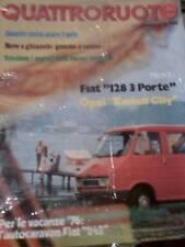 Quattroruote 239 1975 Autocaravan Fiat 242 - Fiat 128