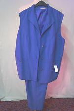 Damen Hosenanzug 2 tlig. blau Gr. 42, Gr. 48 Neu mit Etikett Vapa Moda