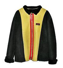 Iceberg Vintage History Unisex Leather Fur Sheepskin Daffy Duck Coat