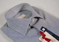 Camicia slim fit cotone stretch Regent by Pancaldi micro disegno Blu S-M-XL