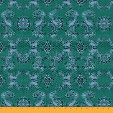 Soimoi Fabric Geometric & Paisley Damask Decor Fabric Printed Meter - DK-6E