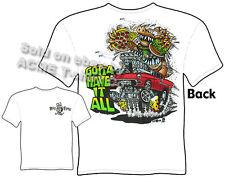 Ratfink T Shirts Chevy Shirt Classic Car Shirt Big Daddy Clothing Ed Roth 1955