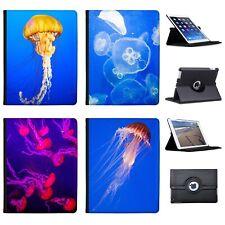 Jellyfish Deep Sea & Oceanic Folio Cover Leather Case For Apple iPad