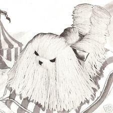 Vintage Pattern/Instructions to make Fluffy Toy Yarn Dog Pekingese Komondor