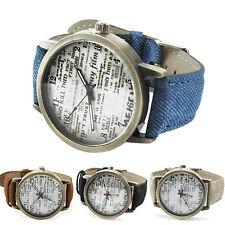 Vintage Lederarmbanduhr Serie 6-Armbanduhr-Armband Leather Bracelet Watch