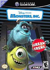 Monsters, Inc.: Scream Arena (Nintendo GameCube, 2002) COMPLETE GAME CASE MANUAL
