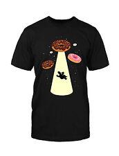 Donut Ufo T-Shirt Fun Funny Alien Invasion Entführung Galaxy Weltall Shuttle