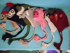 Hand Knit Winter Hats - Animal shapes Sherpa Hats