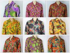 Vintage 70 S style Ibiza Hippie Festival Fresh Prince Crazy Paisley Floral Men shirt