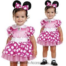 CK501 Pink Minnie Mouse Infant Disney Mini Girls Birthday Fancy Dress Up Costume