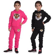 4749 Niños Chándal Informal kapuzen-sweater joggpants wisch-pailletten