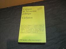 Maspero/Critique de l'économie politique/l'Inflation/ PCM 126
