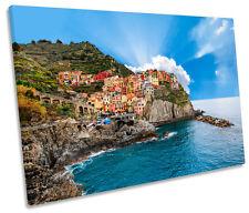 Cinque Terre Italy Beach Coast SINGLE CANVAS WALL ART Picture Print