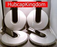 2006-2010 NEW HUMMER H3 AM Wheel SILVER w/ BLACK BAR Center Cap Hubcap SET of 4