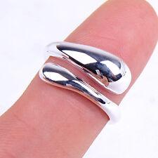 Designer Inspired Men&Women's 925 Sterling Silver Teardrop Open-ended Ring H018