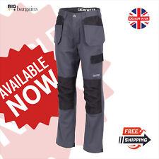 JCB Cargo Combat Trousers Pants Essential Work Wear Polycotton Knee Pad Pockets