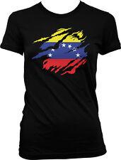 Venezuela Flag Country Shape Venezuelan Pride World Cup Juniors T-shirt 00004000