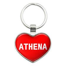 Metal Keychain Key Chain Ring I Love Heart Names Female A Ashl