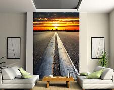 Papier peint géant 2 lés, tapisserie murale déco Route réf 131