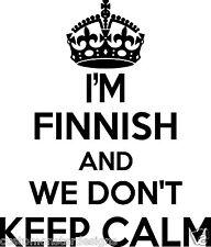 Finnish Wall Sticker... 20 inches Tall We Don't Keep Calm Vinyl Wall Art
