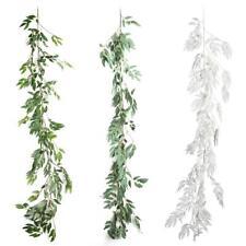 Simulation Willow Vine Rattan Foliage Plastic Green Plant Wedding DIY Decor DE