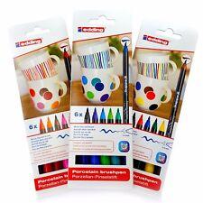EDDING 4200 PORCELLANA Brush Pen forno Bake Pennarello Set-Set di tre colori