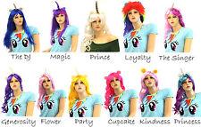 Adult Unicorns Friendship Mythical Magic Pony Unicorn Horn Ears Hair Costume Wig