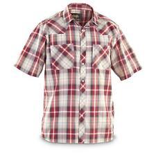 Guide Gear Men's Western Shirt Short Sleeve Red / Indigo Rodeo Ranch Farm Cowboy
