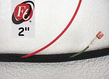 "2"" Flexo F6 Braided Cable Sleeving Wrap, Split Loom, Techflex F6N2.00BK"