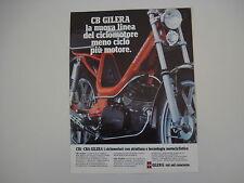 advertising Pubblicità 1978 GILERA CB1 CBA 50