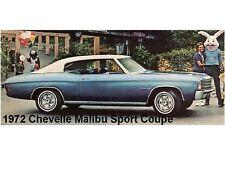 1972 Chevelle Malibu Sport Coupe Auot Car Refrigerator / Tool Box Magnet