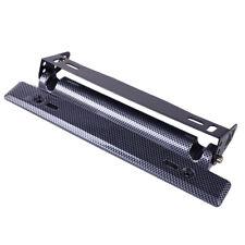 Carbon Fiber Adjustable Number License Plate Frame Bracket Hold Mount Relocator
