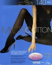 Collant donna Omsa coprente tuttonudo in cotone con tassello art Microcotton